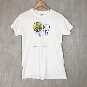 Vintage 80s Smithsonian hot air balloon tee shirt